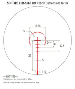 Vortex Spitfire 3x Prism Scope Reticle