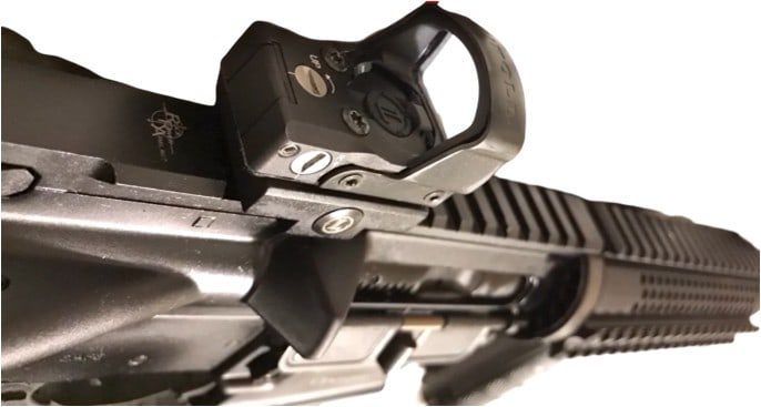 DeltaPoint Pro mounted on a AR-15 style carbine